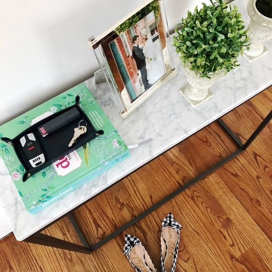"""Shop the Look from bostonchicparty on ShopStyleOur latest home decor purchase- this @WestElm console table for our """"e…"""