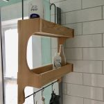 Shower Caddy , Cedar Wood ,  Double Shelf,  Rustic Style Shower Storage , Made to Order