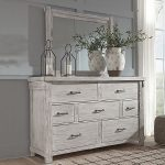 Signature Design by Ashley® Brashland Dresser and Mirror, Color: White - JCPenney