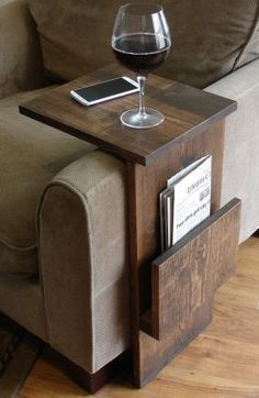 Sofa Chair Armrest Tray Table stand with side storage for magazines – #Armrest #… – Trend Home