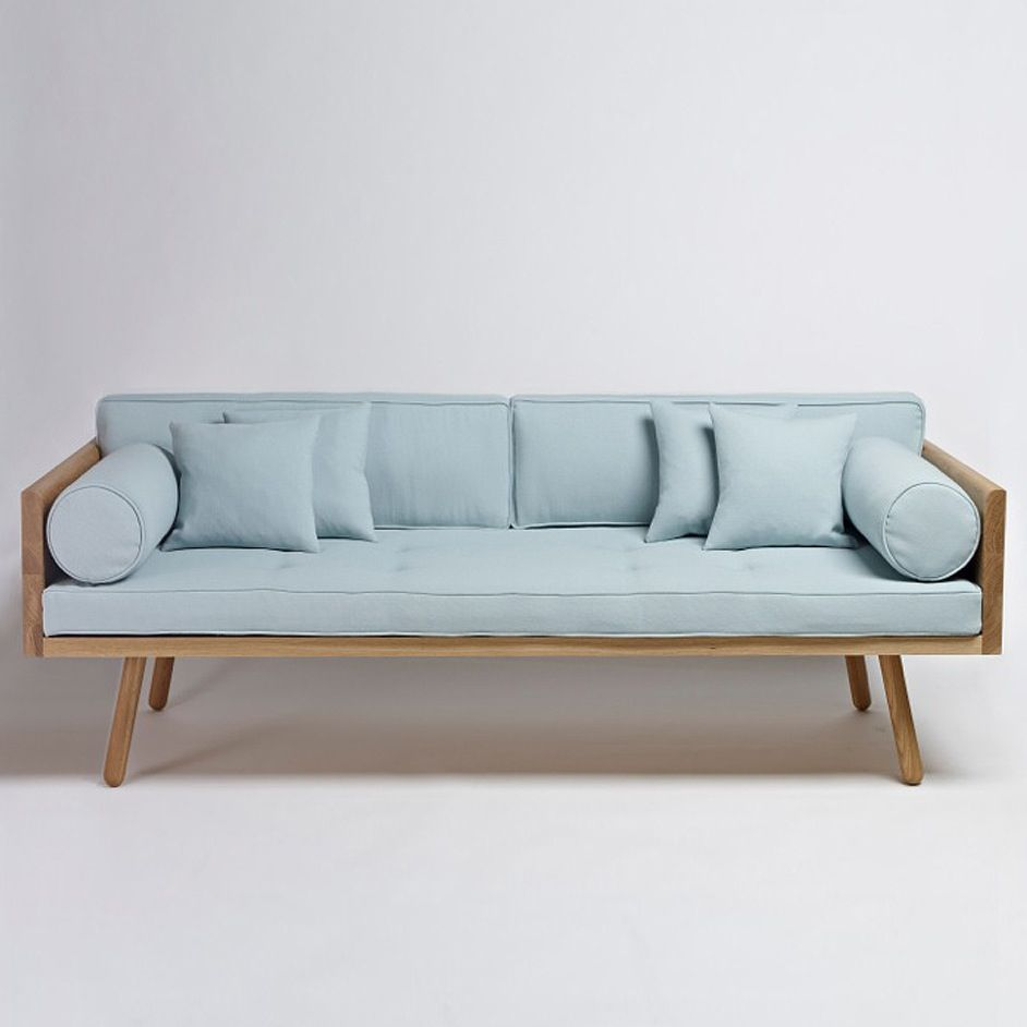 Solid Oak Wood Sofa One by Another Country