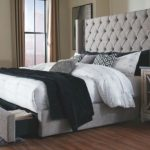 Sorinella Queen Upholstered Bed with 1 Large Storage Drawer, Gray