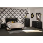 South Shore Step One Full/Queen-Size Headboard in Pure Black 3107270 - The Home Depot