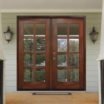 Steves & Sons 60 in. x 80 in. Craftsman Richmond 8-Lite Right-Hand Inswing Chestnut Mahogany Wood Prehung Front Door-M8410-60-CT-4IRH - The Home Depot