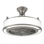 Stile Anderson 22 in. LED Indoor/Outdoor Brushed Nickel Ceiling Fan with Remote Control-CF0110 - The Home Depot
