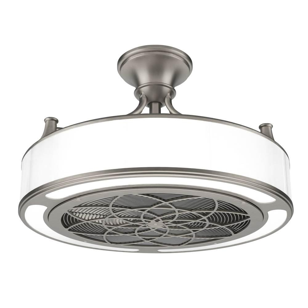 Stile Anderson 22 in. LED Indoor/Outdoor Brushed Nickel Ceiling Fan with Remote Control-CF0110 – The Home Depot