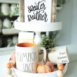 Sweater Weather Sign-Fall Sign-Winter-Autumn-Fall Decor-Mini Signs-Tier Tray Decor-Rae Dunn Inspired-Tiered Tray-6x6-Wood Sign-Centerpiece