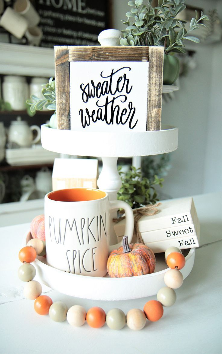 Sweater Weather Sign-Fall Sign-Winter-Autumn-Fall Decor-Mini Signs-Tier Tray Decor-Rae Dunn Inspired-Tiered Tray-6×6-Wood Sign-Centerpiece