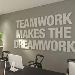 Teamwork Makes the Dreamwork, 3D, Office Wall Art, Typography Decor, Office Quotes, Inspirational and Motivational Art - Office - SKU:TWDW