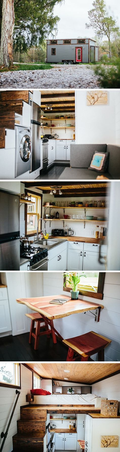 The Chimera tiny house by Wind River Homes. A 192 sq ft tiny house on wheels pri…