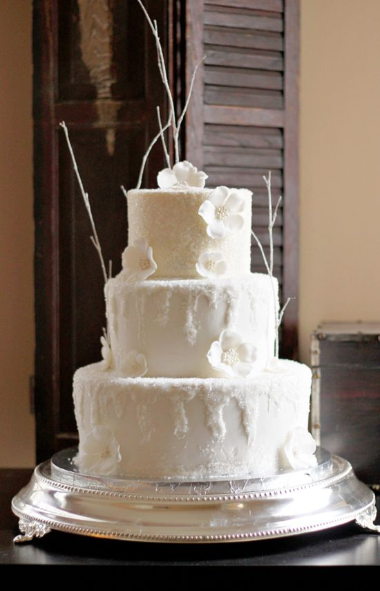 The Couture Cakery: An Icy Wintery Wedding Cake