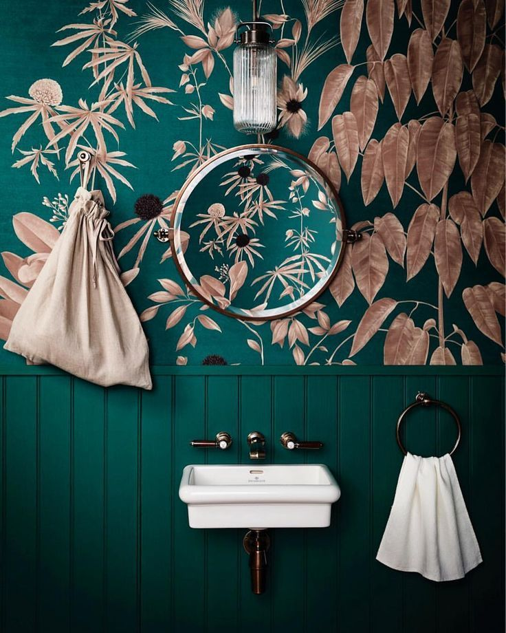 """The Sunday Times Home on Instagram: """"With a lick of Calypso Green paint from @benjaminmooreuk mildew-resistant Aura® Bath & Spa range, the panelling in this tropics-inspired…"""""""