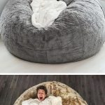 This huge bean bag from LoveSac is what Nap dreams are made of - #Bag #Bean #Cha...