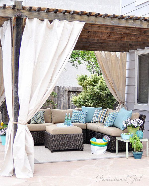 Tie-back Curtains Create Options For Outdoor Spaces