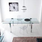 Tonelli Livingstone Glass Dining Table | Contemporary Dining Room Furniture