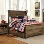 Trinell Panel Bed with Trundle Full Size