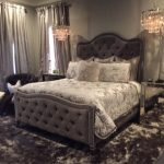 Tufted Bed Extra Tall Headboard Footboard Frame California King Queen Full Twin Choose Color Rhinestone Crystal Button MADE TO ORDER