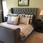 Tufted Headboard and Tufted Bed Frame (King size)