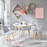 Tufted Rug with Grey and Pink Graphic Motifs 140x200 | Maisons du Monde