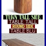 Turn Tall Side Table - Tall Round Side Table Blu # turn tall side table - hoher ...