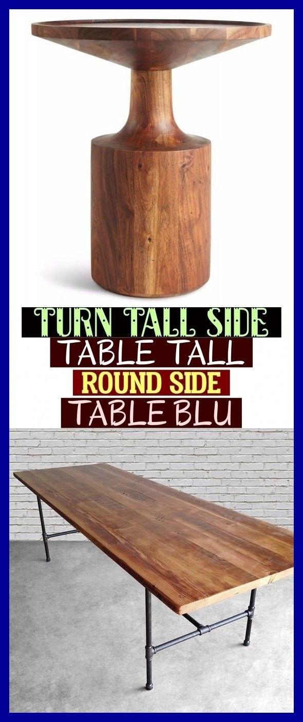 Turn Tall Side Table – Tall Round Side Table Blu # turn tall side table – hoher …