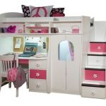 Twin Loft with Central Play Area and Desk | Bedroom Furniture, Beds | Berg Furniture