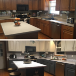 Two Toned Painted Kitchen, Before & After