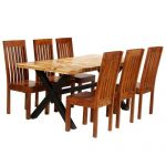 Union Rustic Fulmer Dining Set with 6 Chairs | Wayfair.co.uk