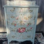 Upcycled Dresser Bedroom refinished Furniture home decor painted woman's dresser w applique bedroom furniture country cottage
