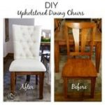 Upholstered Wood Dining Chairs   - *DIY ►FURNITURE UPCYCLING◄ - #chairs #Din...