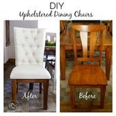 Upholstered Wood Dining Chairs   – *DIY ►FURNITURE UPCYCLING◄ – #chairs #Din…
