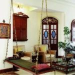 Vibrant Indian Homes #indischeswohnzimmer Oonjal - Wooden Swings in Indian Homes...