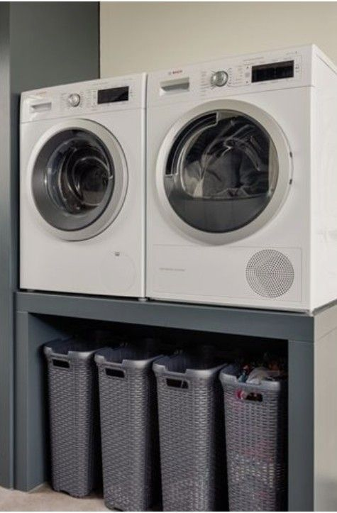 Washing / drying combination at working height – # combination # on # waschmasch…