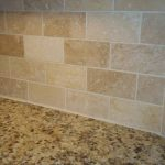 We selected a rich venetian gold granite with an simple yet elegant subway style...