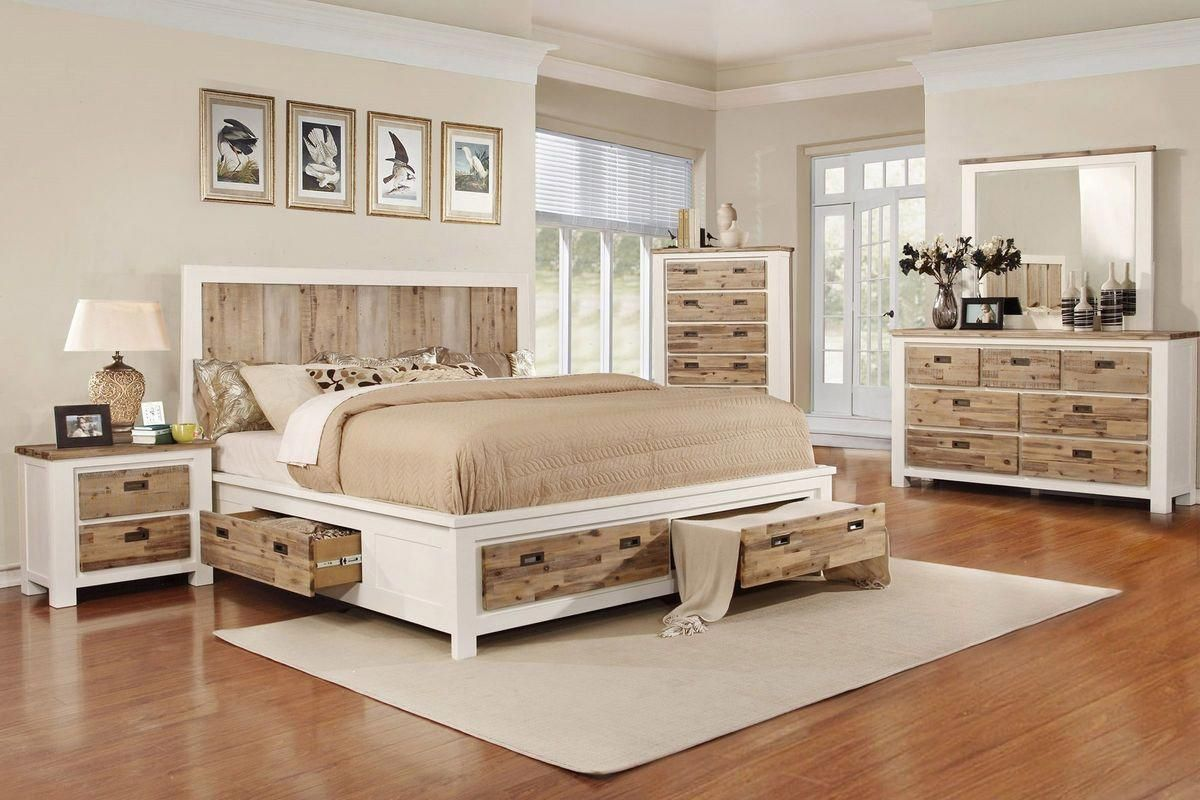 Western 5-Piece Queen Bedroom Set with 32″ LED-TV at Gardner-White