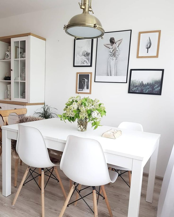 White Elegance! Every detail is perfect in this beautiful dining room. Fresh … – Dining Table | 2019