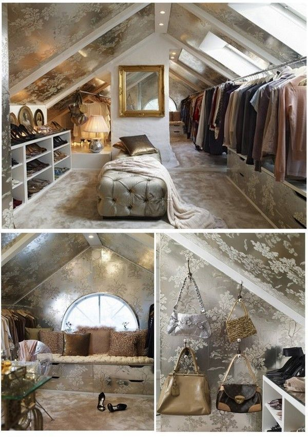 Woman-cave. Makes me want to convert my unused attic… | Convert Attic Into Bed…