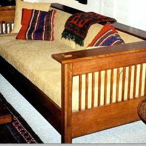 Wood Magazine – Downloadable Woodworking Project Plan to Build Arts and Crafts Mission Sofa and Chair