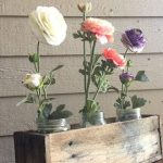 Wood Serving Tray, White, Distressed Reclaimed Pallet Wood with Fork Handles