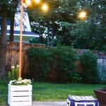 Wooden Planters With Built In Pole For Patio String Lights | hölzerne pflanzgef...