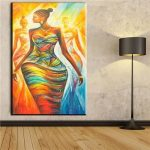 abstract african women canvas oil art painting wall pictures