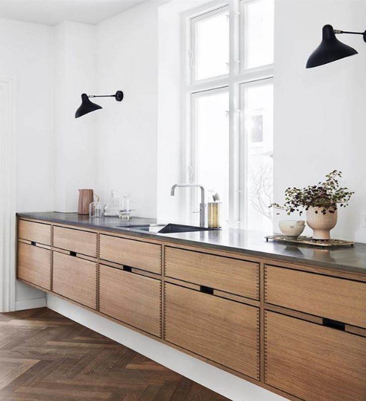 cabinetry is very cool and unique. I like that the toe kick is white and set bac…