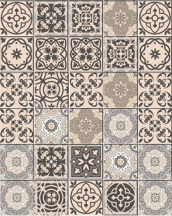 decor Ideas Bathroom decals Tile Sticker Set of 24 Tiles decal mixed Tiles for walls Kitchen home decoration Mexican tile SB20