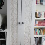 hack Aneboda with printed wallpaper or adhesive paper and chic knobs in vintage ...