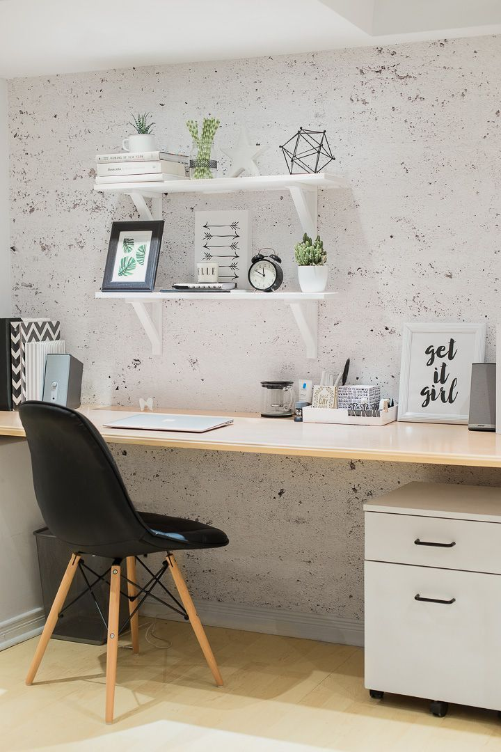 home office vignette with a minimalist style and Scandinavian accents. – Home Decor Art