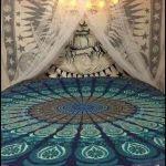 indiahandmade - Twin Hippie Indian Tapestry Mandala Throw Wall Hanging Gypsy Bed...