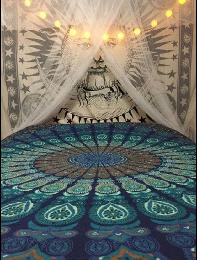 indiahandmade – Twin Hippie Indian Tapestry Mandala Throw Wall Hanging Gypsy Bed…