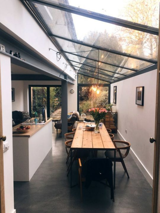 industrial modern kitchen and dining room with ceiling windows and wood details – Home Decor Art