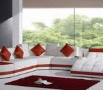 red white leather sofa sectional sofa indeas living room ideas modern furniture ...