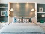 small home bedroom furniture ideas white furniture open shelves side lamps